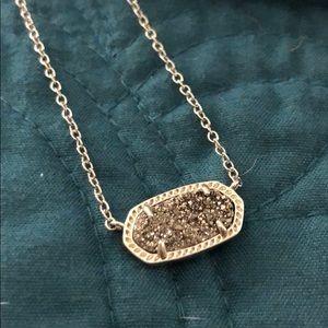 Silver druzy Elisa pendant necklace
